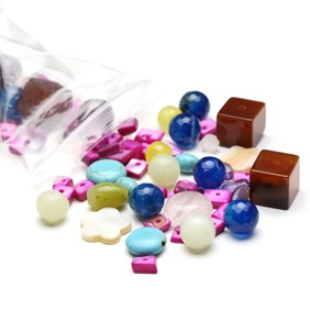 `Focal Pick and Mix` Gemstone Bead Pack - 60 grams