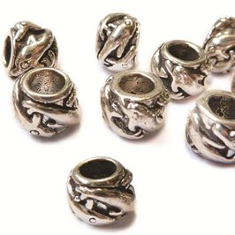 Sterling Silver Dolphin Charm Beads