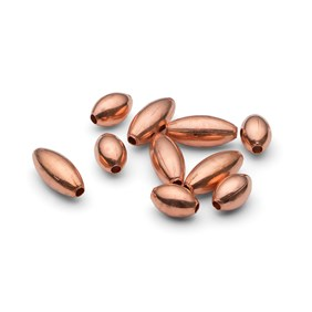 Plain Oval Copper Beads, Pack of 50