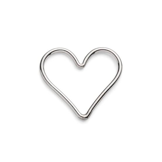 Sterling Silver Heart Connector Link