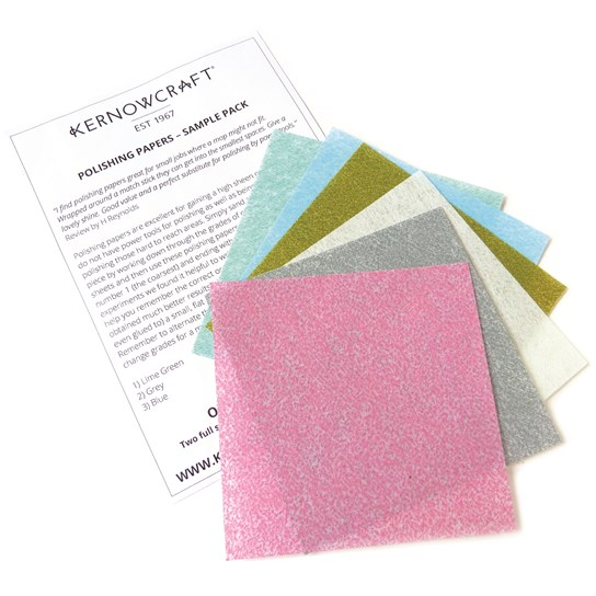 Sample Pack Of 6 Grades Of Polishing Papers