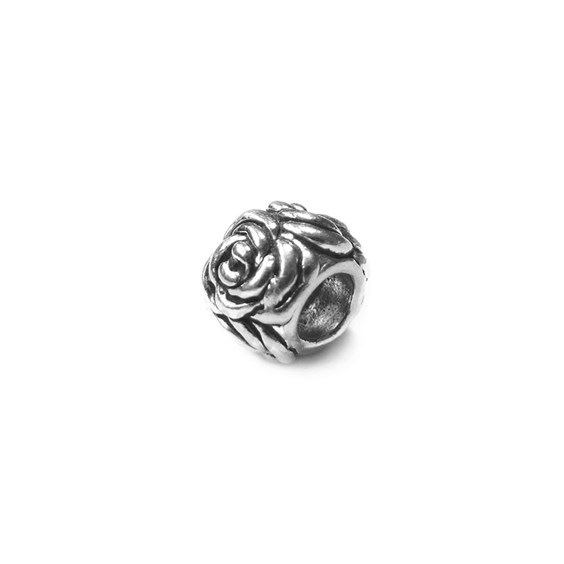 Sterling Silver Rose Bud Charm Beads
