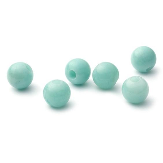 Amazonite 10mm Round Large Hole Charm Beads