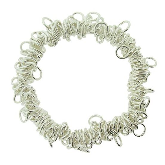 Silver Plated Stretch Charm Bracelet
