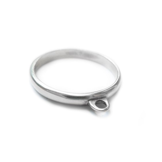 Sterling Silver Loop Ring