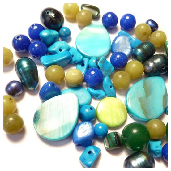 `Ocean` Gemstone Bead Pack - 25 grams