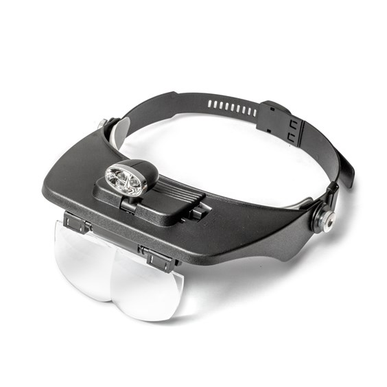 Headband Magnifier With Double LED Light
