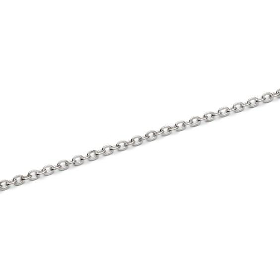 Silver Plated Trace Chain, Per Metre