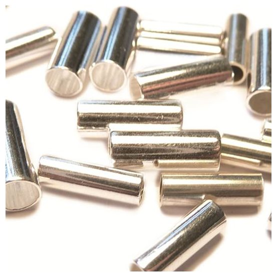 Sterling Silver Tube Beads