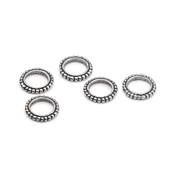 Sterling Silver Dotty Spacer Charm Beads