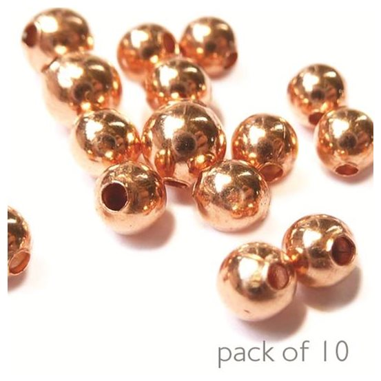 Plain Round Copper Beads, Pack of 10